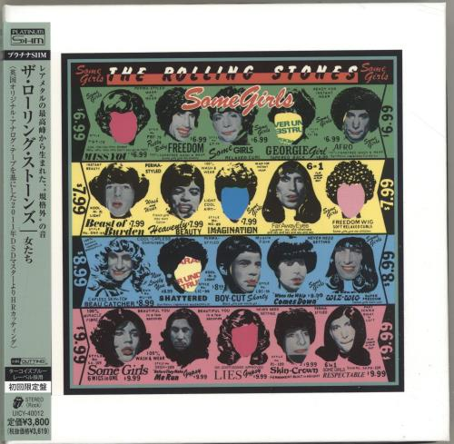 Rolling Stones Some Girls - Platinum SHM CD Japanese ROLHMSO692235
