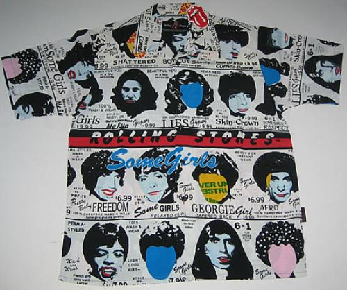 Rolling Stones Some Girls - XL Club Shirt UK clothing (328317)