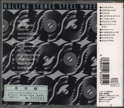 Rolling Stones Steel Wheels Japanese Promo Cd Album Cdlp