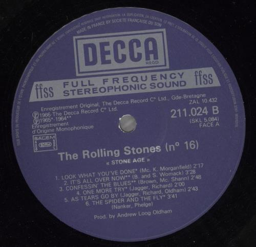 Rolling Stones Stone Age - Jacques Leblanc Collection – Vol. 16 vinyl LP album (LP record) French ROLLPST734633