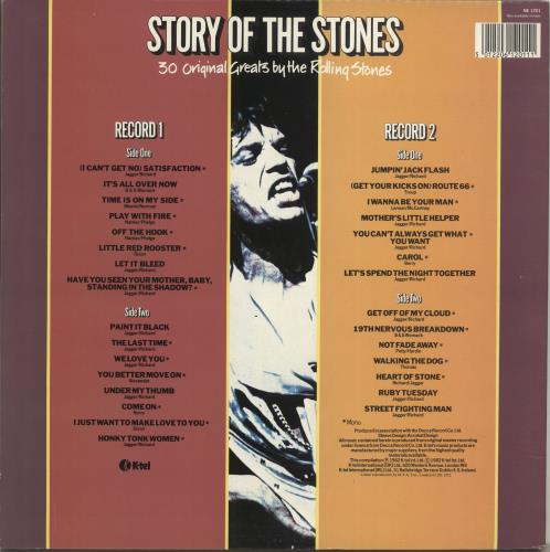 Rolling Stones Story Of The Stones - Barcoded Sleeve 2-LP vinyl record set (Double Album) UK ROL2LST704139