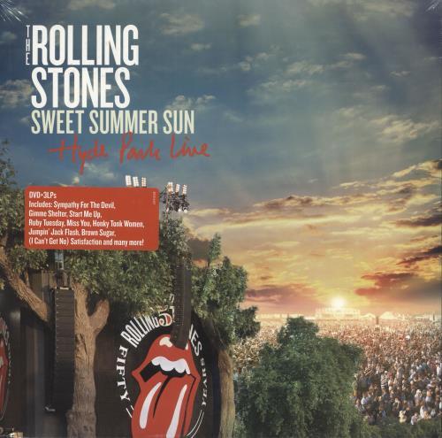 Rolling Stones Sweet Summer Sun - Hyde Park Live + DVD 3-LP vinyl record set (Triple Album) US ROL3LSW727436