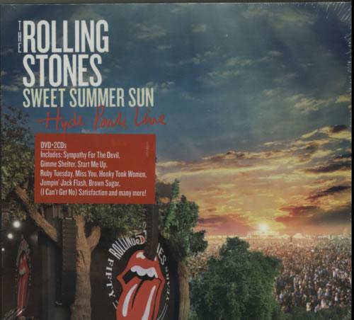Rolling Stones Sweet Summer Sun: Hyde Park Live - Sealed 2-disc CD/DVD set UK ROL2DSW617081