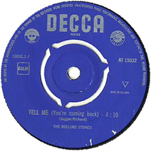 """Rolling Stones Tell Me (You're Coming Back) - 2nd 7"""" vinyl single (7 inch record) Dutch ROL07TE632770"""