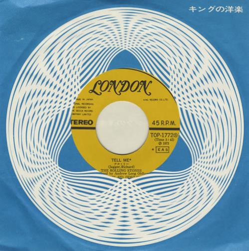 "Rolling Stones Tell Me - Coming To Japan Sleeve 7"" vinyl single (7 inch record) Japanese ROL07TE431758"
