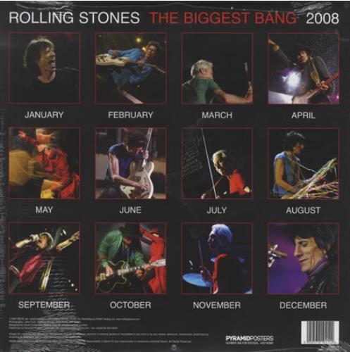 Rolling Stones The Biggest Bang - Official Calendar 2008 calendar UK ROLCAOF394387