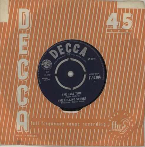"""Rolling Stones The Last Time - 1st - VG 7"""" vinyl single (7 inch record) UK ROL07TH566722"""