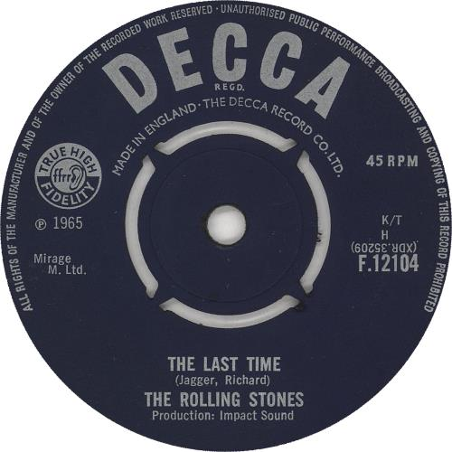 """Rolling Stones The Last Time - 2nd 7"""" vinyl single (7 inch record) UK ROL07TH741297"""