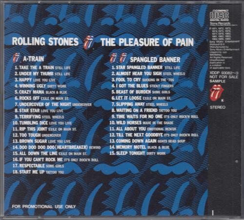 Rolling Stones The Pleasure Of Pain 2 CD album set (Double CD) Japanese ROL2CTH42359