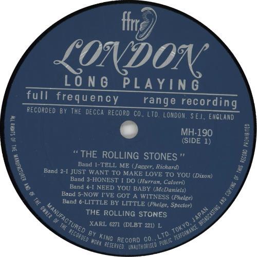Rolling Stones The Rolling Stones - 1st vinyl LP album (LP record) Japanese ROLLPTH125827