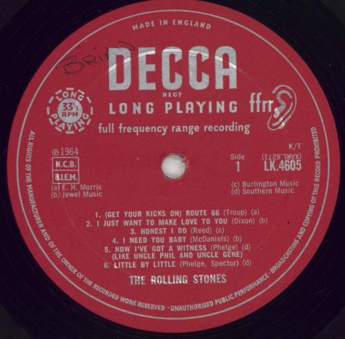 Rolling Stones The Rolling Stones - 3rd - EX - F/B - WOL vinyl LP album (LP record) UK ROLLPTH768017