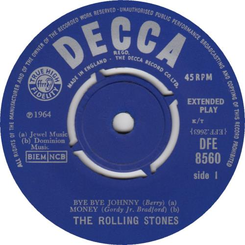 "Rolling Stones The Rolling Stones EP - 1st - EX 7"" vinyl single (7 inch record) UK ROL07TH555676"