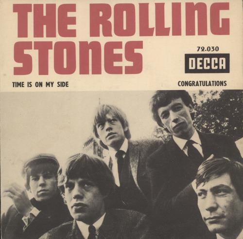 """Rolling Stones Time Is On My Side 7"""" vinyl single (7 inch record) French ROL07TI777106"""
