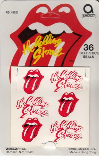 Rare Rolling Stones Logo Stickers