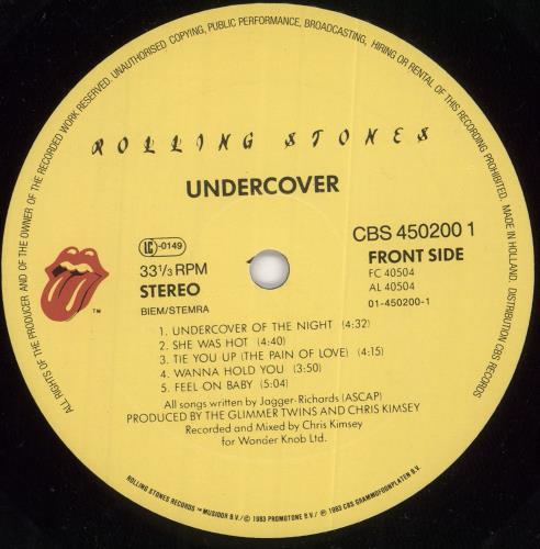 Rolling Stones Undercover vinyl LP album (LP record) Dutch ROLLPUN288182