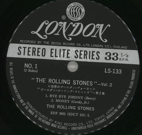 "Rolling Stones Volume 2 - EX 7"" vinyl single (7 inch record) Japanese ROL07VO716390"