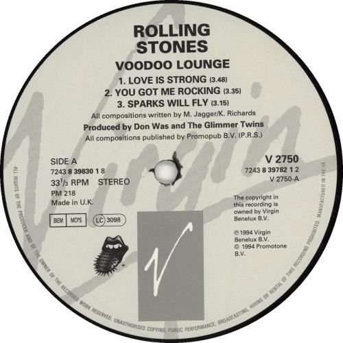 Rolling Stones Voodoo Lounge - Hype Stickered - EX 2-LP vinyl record set (Double Album) UK ROL2LVO701193