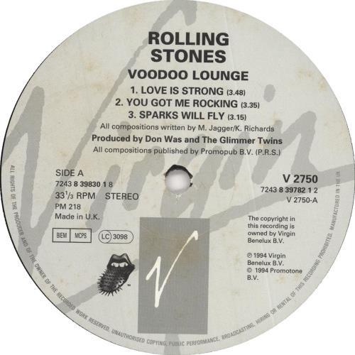 Rolling Stones Voodoo Lounge 2-LP vinyl record set (Double Album) UK ROL2LVO727426