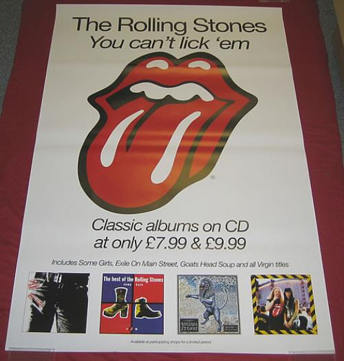 Rolling Stones You Can't Lick 'Em poster UK ROLPOYO359848