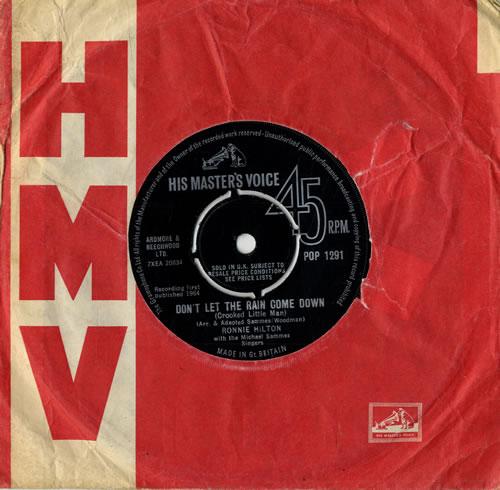 "Ronnie Hilton Don't Let The Rain Come Down 7"" vinyl single (7 inch record) UK HL307DO564075"