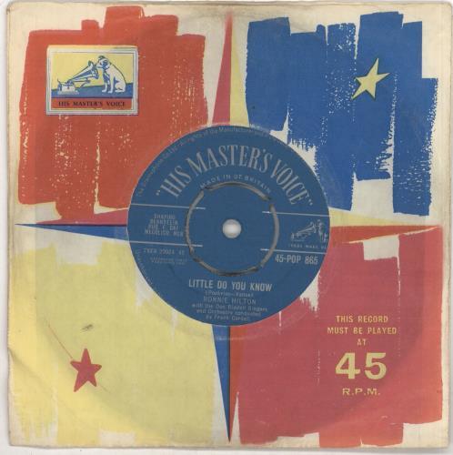 "Ronnie Hilton Little Do You Know 7"" vinyl single (7 inch record) UK HL307LI724058"