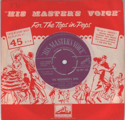 "Ronnie Hilton The Moonraker's Song 7"" vinyl single (7 inch record) UK HL307TH644997"