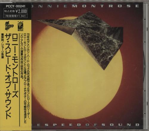 Ronnie Montrose The Speed Of Sound - Sealed CD album (CDLP) Japanese RNTCDTH761107