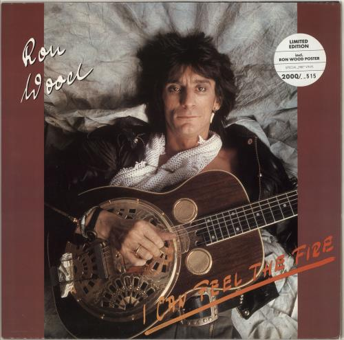 "Ronnie Wood I Can Feel The Fire - Coloured Vinyl 12"" vinyl single (12 inch record / Maxi-single) German RNW12IC331717"