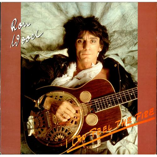 "Ronnie Wood I Can Feel The Fire - Yellow & Black Splatter Vinyl 12"" vinyl single (12 inch record / Maxi-single) German RNW12IC416784"