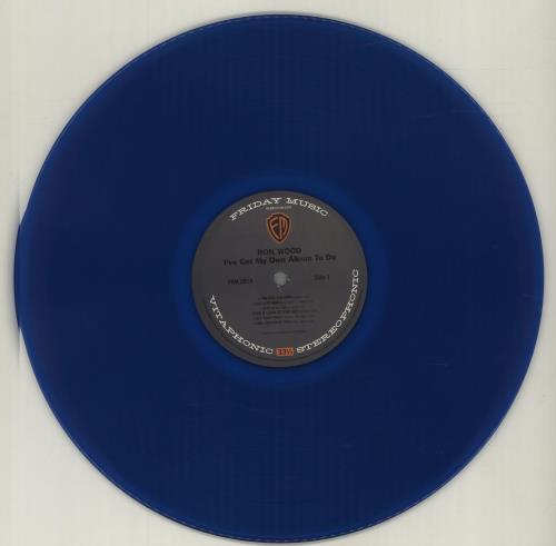 Ronnie Wood I've Got My Own Album To Do - 180gm Blue Vinyl vinyl LP album (LP record) US RNWLPIV682825