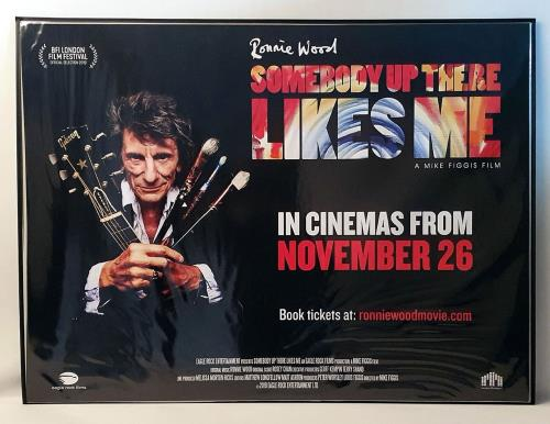 Ronnie Wood Somebody Up There Likes Me poster UK RNWPOSO763420