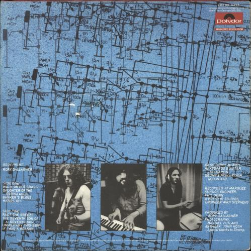 Rory Gallagher Blueprint - VG vinyl LP album (LP record) UK RORLPBL743870