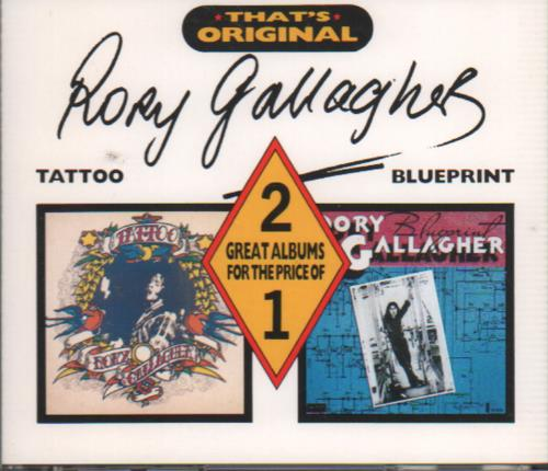 Rory Gallagher Tatto / Blueprint 2 CD Album Set (Double CD) French  ROR2CTA650149