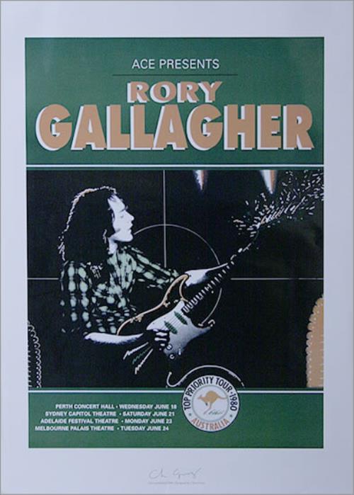 Rory Gallagher Top Priority Tour - Australia poster Australian RORPOTO516410