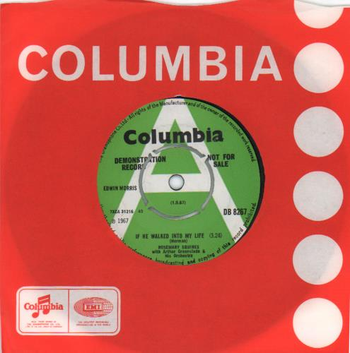"""Rosemary Squires If He Walked Into My Life 7"""" vinyl single (7 inch record) UK RJ707IF673182"""