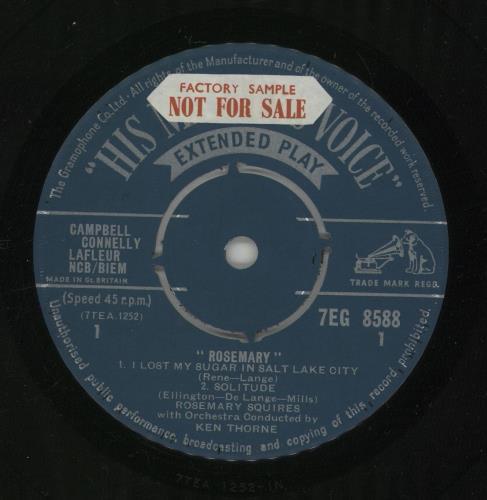 "Rosemary Squires Rosemary - Sample 7"" vinyl single (7 inch record) UK RJ707RO673198"