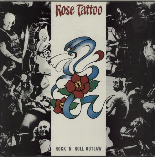 Rose Tattoo Rock 'n' Roll Outlaw - Red Vinyl vinyl LP album (LP record) UK RTALPRO672214
