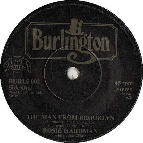 "Rosie Hardman The Man From Brooklyn 7"" vinyl single (7 inch record) UK R2507TH617782"