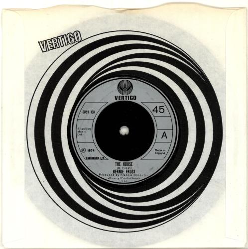 "Rossi & Frost The House 7"" vinyl single (7 inch record) UK RAF07TH623504"