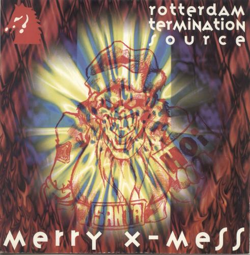 "Rotterdam Termination Source Merry X-Mess 12"" vinyl single (12 inch record / Maxi-single) UK X2T12ME659422"