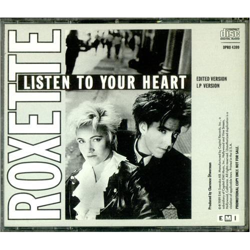 """Roxette Listen To Your Heart CD single (CD5 / 5"""") US ROXC5LI81705"""