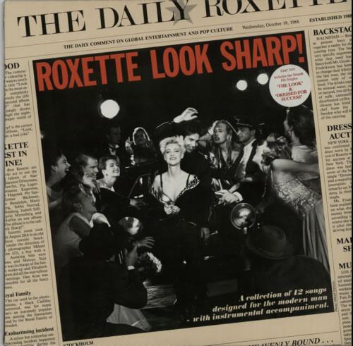 Roxette Look Sharp! - Promo stickered + Press Release vinyl LP album (LP record) UK ROXLPLO612815