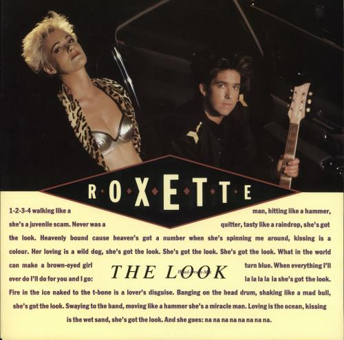 "Roxette The Look - 1st Issue - Picture Sleeve 12"" vinyl single (12 inch record / Maxi-single) UK ROX12TH04336"