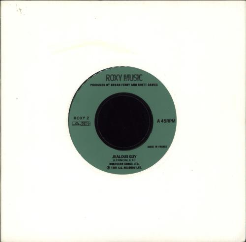 "Roxy Music Jealous Guy - Jukebox 7"" vinyl single (7 inch record) UK RXY07JE719496"