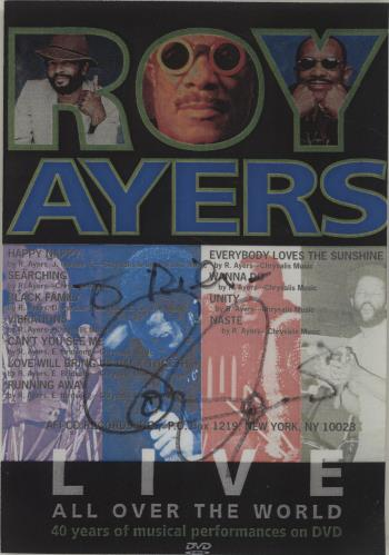 Roy Ayers Live All Over The World - Autographed DVD UK RA1DDLI680674