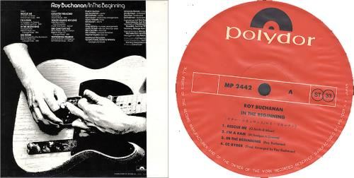 Roy Buchanan In The Beginning + Obi-Strip vinyl LP album (LP record) Japanese YBULPIN209483