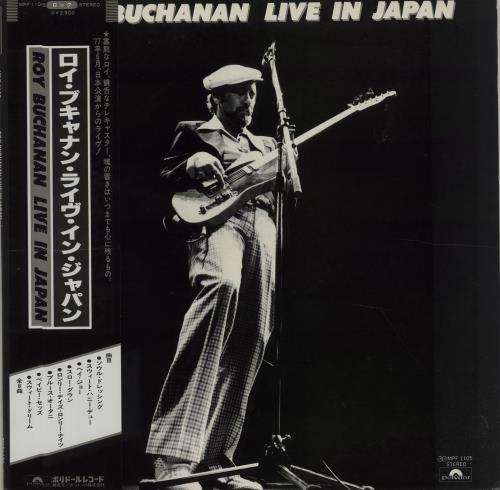 Roy Buchanan Live In Japan vinyl LP album (LP record) Japanese YBULPLI220705