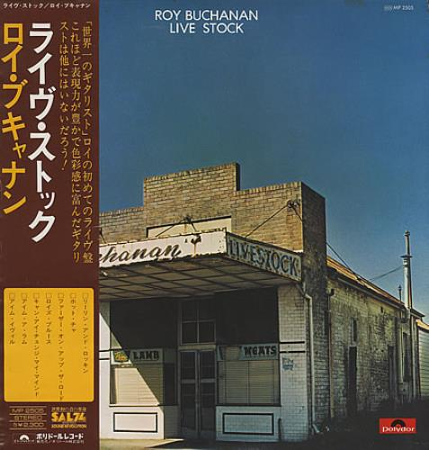 Roy Buchanan Live Stock vinyl LP album (LP record) Japanese YBULPLI364839