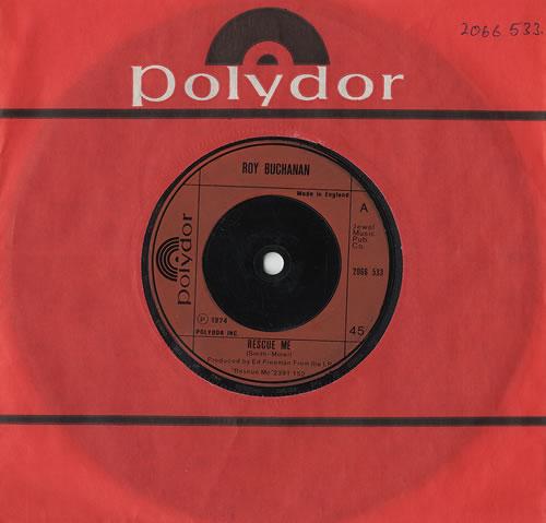 "Roy Buchanan Rescue Me 7"" vinyl single (7 inch record) UK YBU07RE493365"