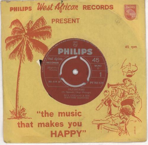 "Roy Chicago Olubunmi 7"" vinyl single (7 inch record) African 0Q207OL733797"